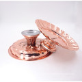 Rose Gold wedding decoration charger plate stainless steel cake fruit stand /charger plste