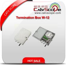Caixa terminal de alta qualidade de W-12 FTTX / caixa de distribuição de fibra óptica