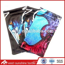 Super soft custom digital print microfiber mp4 mp3 sunglass pouch case