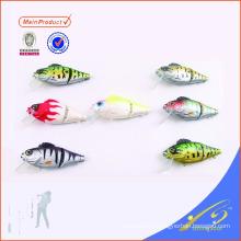 HFL001 vie de leurre de pêche en plastique dur comme bluegil coulant basse 2 articulé swimbait