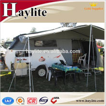 camping car trailer with tent