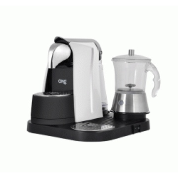 Caffitaly Coffee Machine with Glass Milk Frother