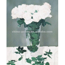 Beautiful White Rose Oil Painting