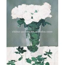 Pintura a óleo branca bonita de Rosa
