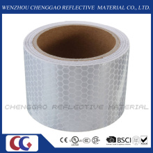 PVC Honeycomb White Reflective Adhesive Tape for Traffic Safety (C3500-OXW)