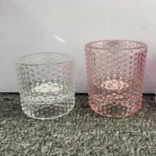 Handgefertigte Teelichthalter aus Glas für Heimtextilien