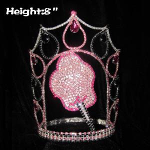 Corona de desfile de cristal de algodón de azúcar personalizada