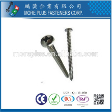 Made in Taiwan Stainless Steel Philips Drive Pan Head Self Tapping Screw