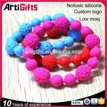 Bracelet de perle de silicone à la main à la mode haut de gamme à bas prix pour les événements