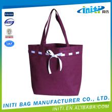 Nylon logo personnalisé prix d'usine diverses couleurs travel cotton bag