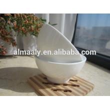 bol à pied en céramique blanc pur épaississement imprimé