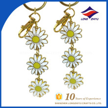 Best selling flower key chain little yellow flower keychian