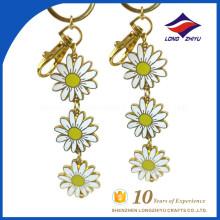 Best selling flower key chain little yellow flower keychian