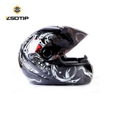 Marke Tanked Cool Color Motorradhelm Vollgesichts Dot Graffiti Skelett Cascos Para Moto S / M / L T-108