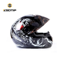 Marca Tanked Color fresco Casco de la motocicleta Cara completa Punto Graffiti Esqueleto Cascos Para Moto S / M / L T-108