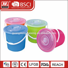 plastic bucket 20 liter with lid and handle colorful