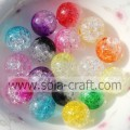 China Wholesale 8-16 MM Colorful Cracked Round Crystal Bead In Bulk