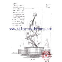 Gran morden diseño de la escultura del jardín del arte del acero inoxidable