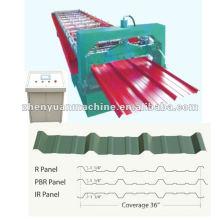 Painel de telhado metálico PBR e IBR formando machine_ $ 6000-12000 / set