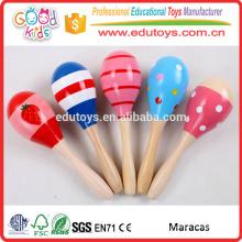Conforms to En71 Colorful Wooden Baby Maracas