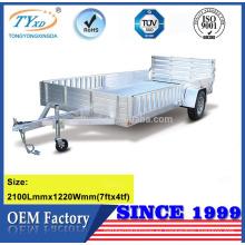 remolque de aluminio del coche de la alta calidad 7x4 para la venta