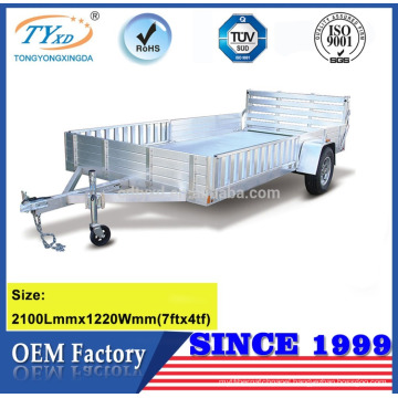 high quality 7x4 aluminum car trailer for sale