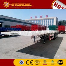 Fabricante de 20ft / 40ft transporte plataforma semi remolque camiones para la venta