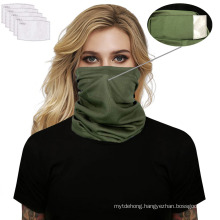 Wholesale Outdoor Headwear Neck Gaiter with Pm2.5 Filters Bandana Scarf