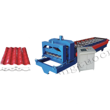 glazed tile roll forming machine price color coated metal roof panel making machine steel plate rolling machine