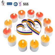 Prix concurrentiel de l'environnement à la mode non parfumée colorée Bco bougies de lumière colorées non parfumées de thé