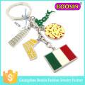 Venta al por mayor regalo promocional barato moda personalizada metal bandera llavero