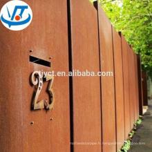 A588 Corten acier plaque / feuille / corten A / B / SPA-H acier corten prix