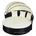 Black Outdoor Round Patio Rattan Sofa Furniture