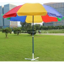 Metal directo al aire libre coloridas sombrillas