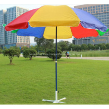 Metal Straight Outdoor Beach Colorful Umbrella