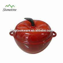 Heavy-Duty Enamel Coating Pumpkin Shape Cast Iron Cookware