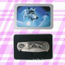 Pocket Knife with Tin Box in Various Design