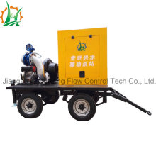 Municipal Drainage Vacuum Assisted Centrifugal Sewage Diesel Pump