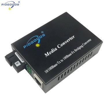 20 ~ 80km convertisseurs de médias de fibre optique de WDM de mode simple