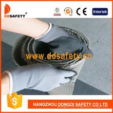 Guantes con recubrimiento de látex negro Ddsafety Guantes de trabajo con acabado ondulado Dnl108