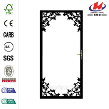 334 Series Black Charlotte Security Door