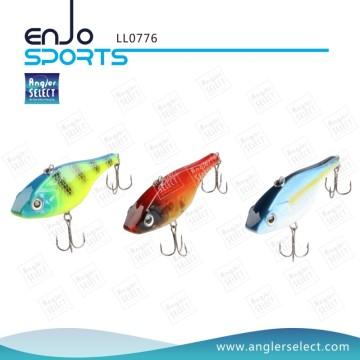 Angler Selecione ABS Hard Lipless top moldura de pesca com isca Vmc ganchos agudos (LL0776)