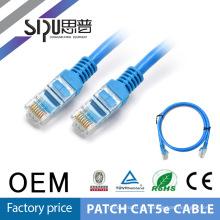 SIPUO 8 par barato precio cable de parche de rj45 conector 1 metro utp cat.5e con precio barato