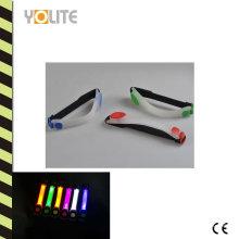 Brassard de course de nuit réfléchissant imperméable de clignotant de sports de LED