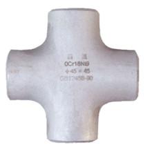 Asme B16.9 de acero inoxidable de cuatro vías de montaje en tubería cruzada