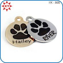 Étiquettes de chien d'impression de patte de Signiture de fabrication avec la certification de GV