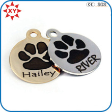 Manufacture Signiture Paw Print Dog Tags with SGS Certification