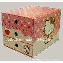 Impression personnalisée Boîte à tiroir en papier ondulé