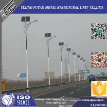 Solar Panel Street Light Pole With Galvanized