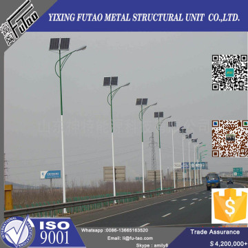 Solar Panel Street Light Pole With Galvanized